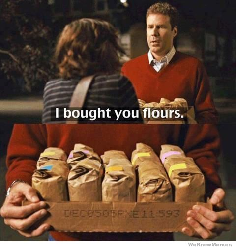 I brough you flours (pun)